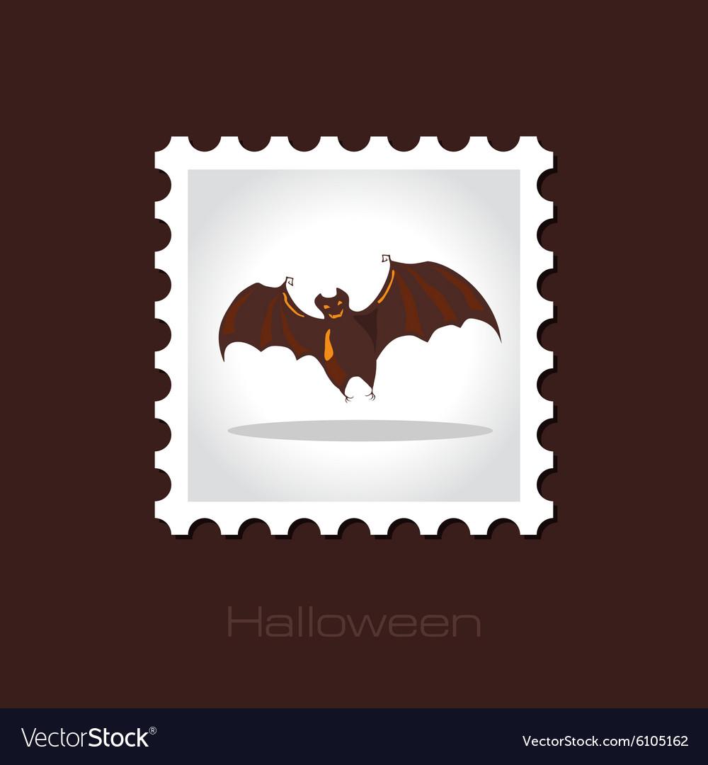 Halloween Bat Stamp Vector Image