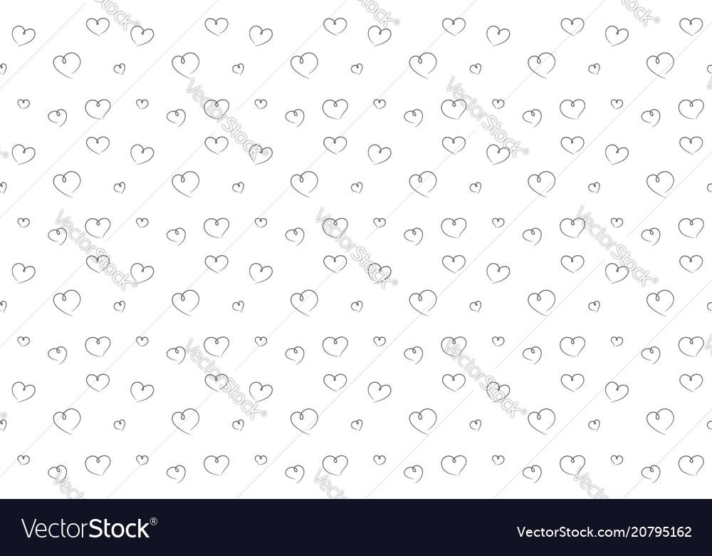 Hearts seamless pattern hand drawn background