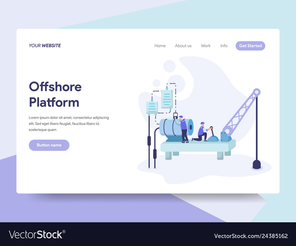 Landing page template of offshore platform