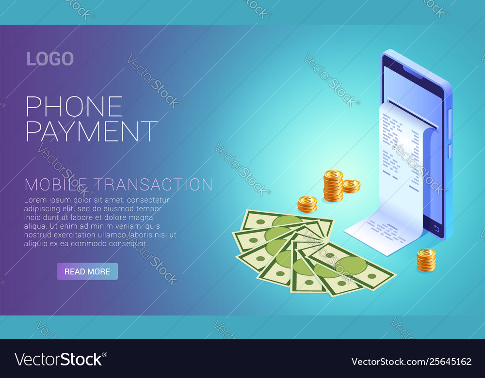 Payment phone online concept smartphone with