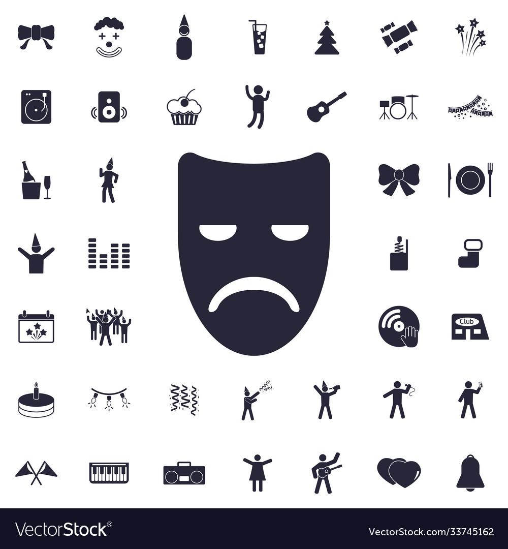 Sad mask icon