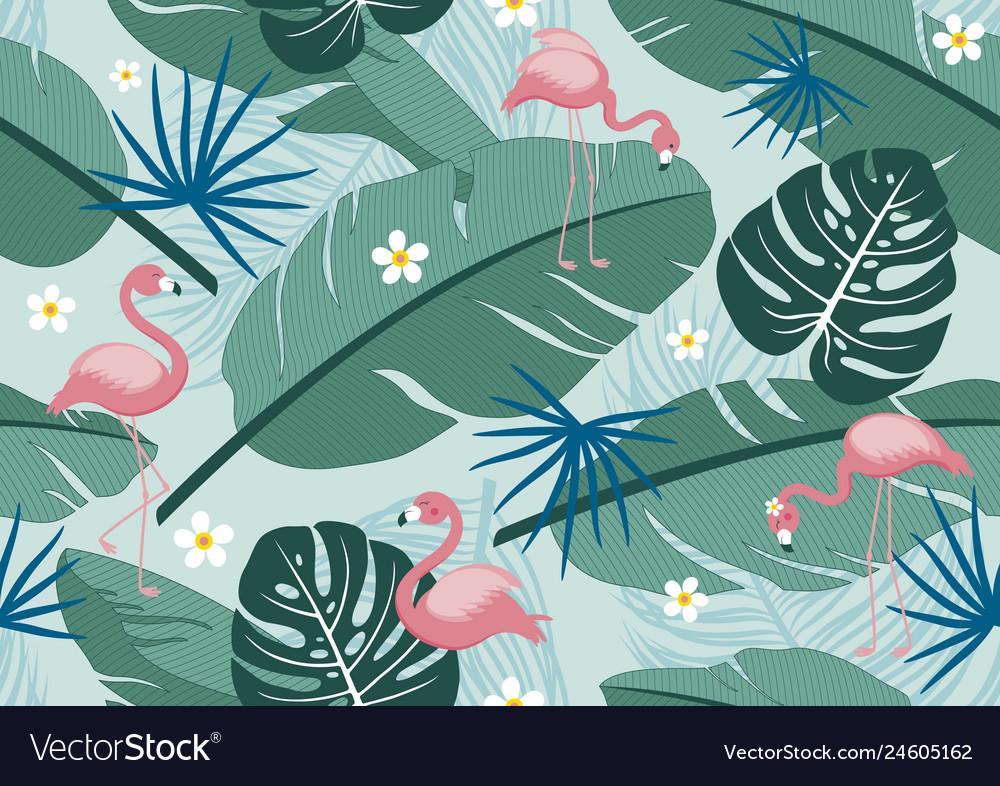 Seamless pattern tropical summer design