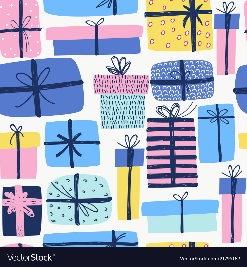 Seamless pattern with different doodle great