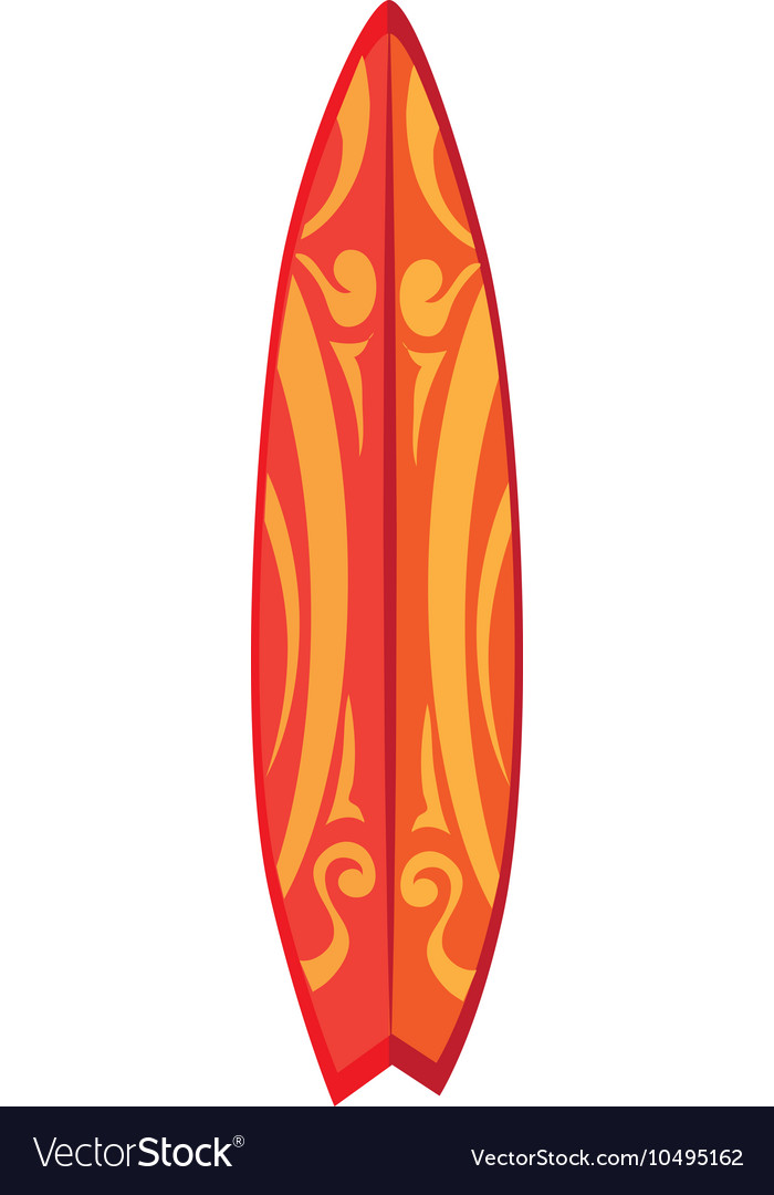 Surfboard Surf Design Isolated Design Royalty Free Vector