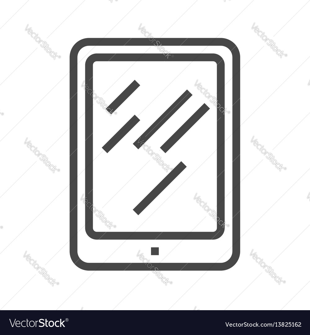 Tablet pc thin line icon