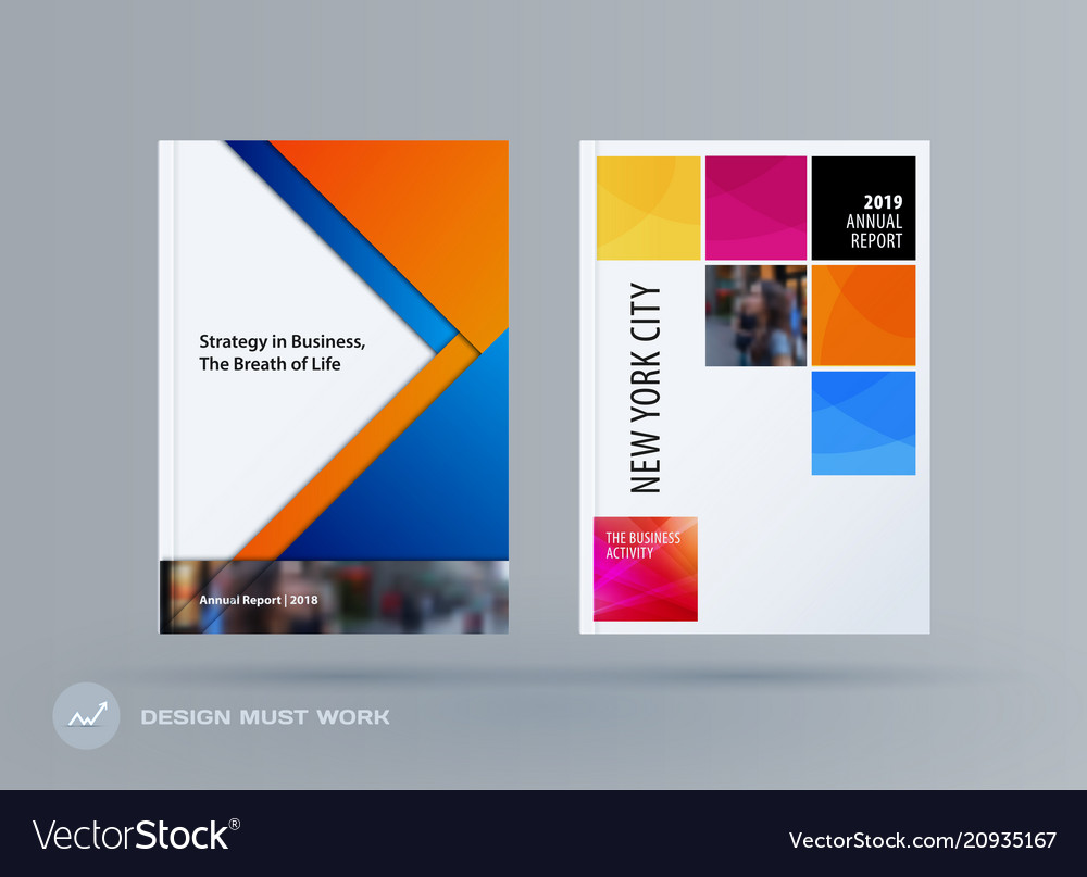Abstract double-page brochure material design