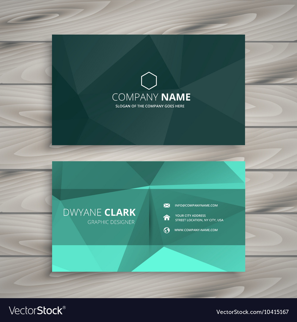 Abstract polygonal shape business card Royalty Free Vector
