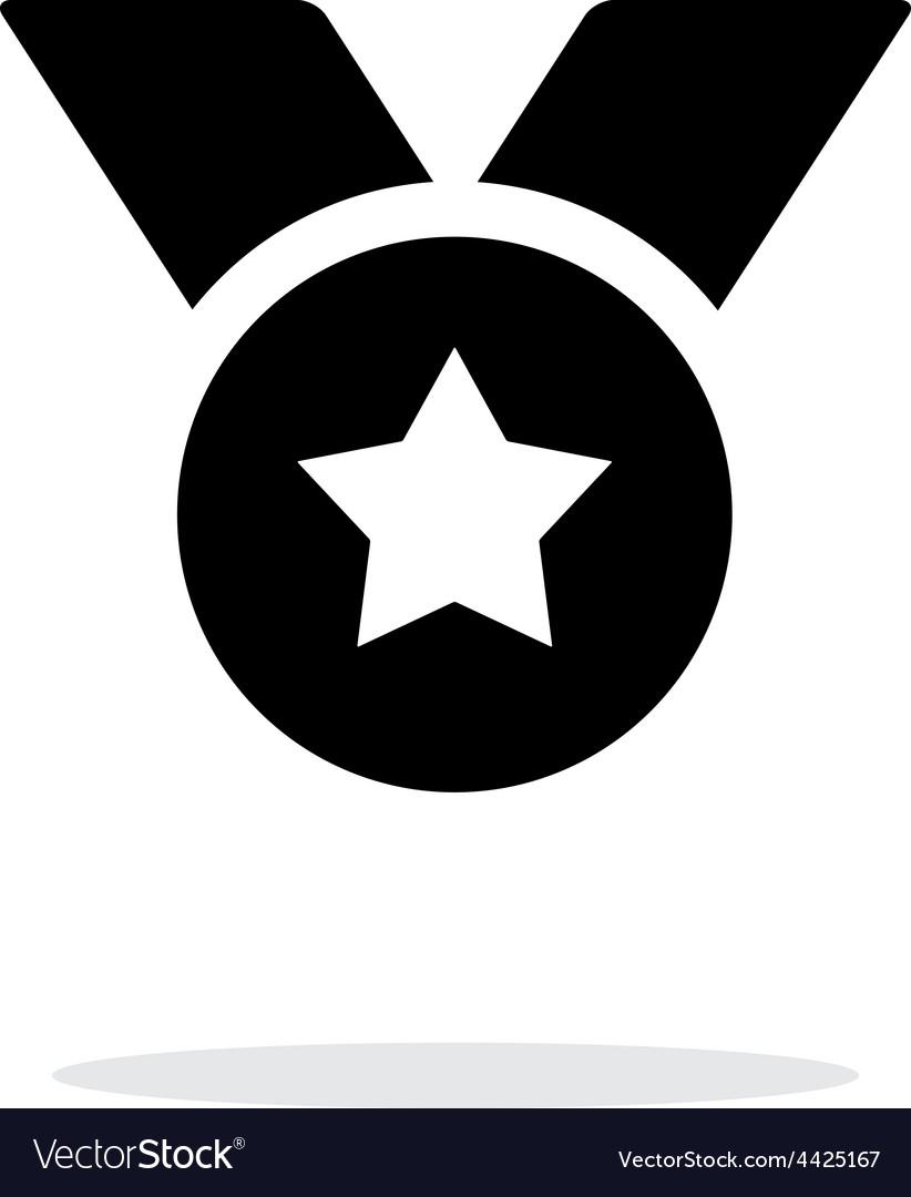 Award simple icon on white background