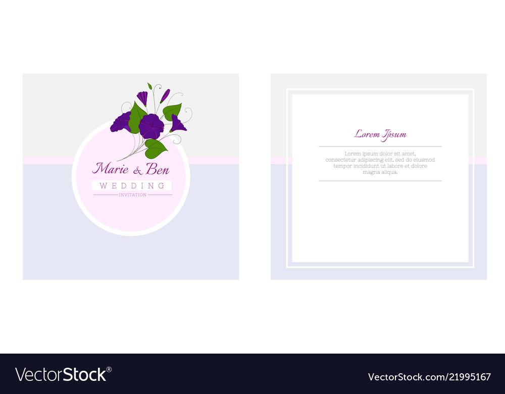 Floral Wedding Invitation Template Elegant