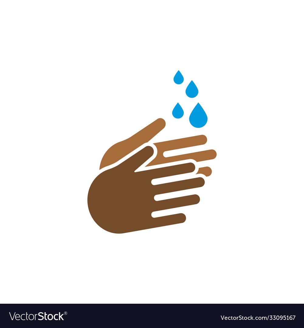 Handwash icon design template isolated