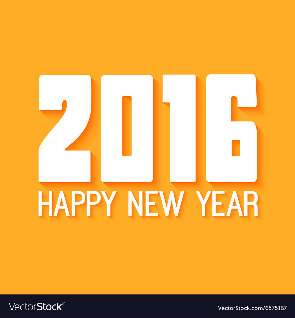 Happy New Year Paper text design on yellow