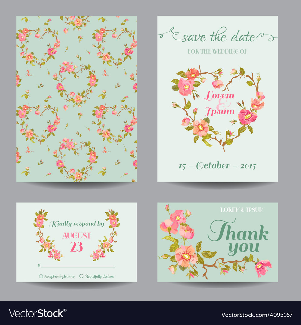 Invitation-Congratulation Card Set - for Wedding