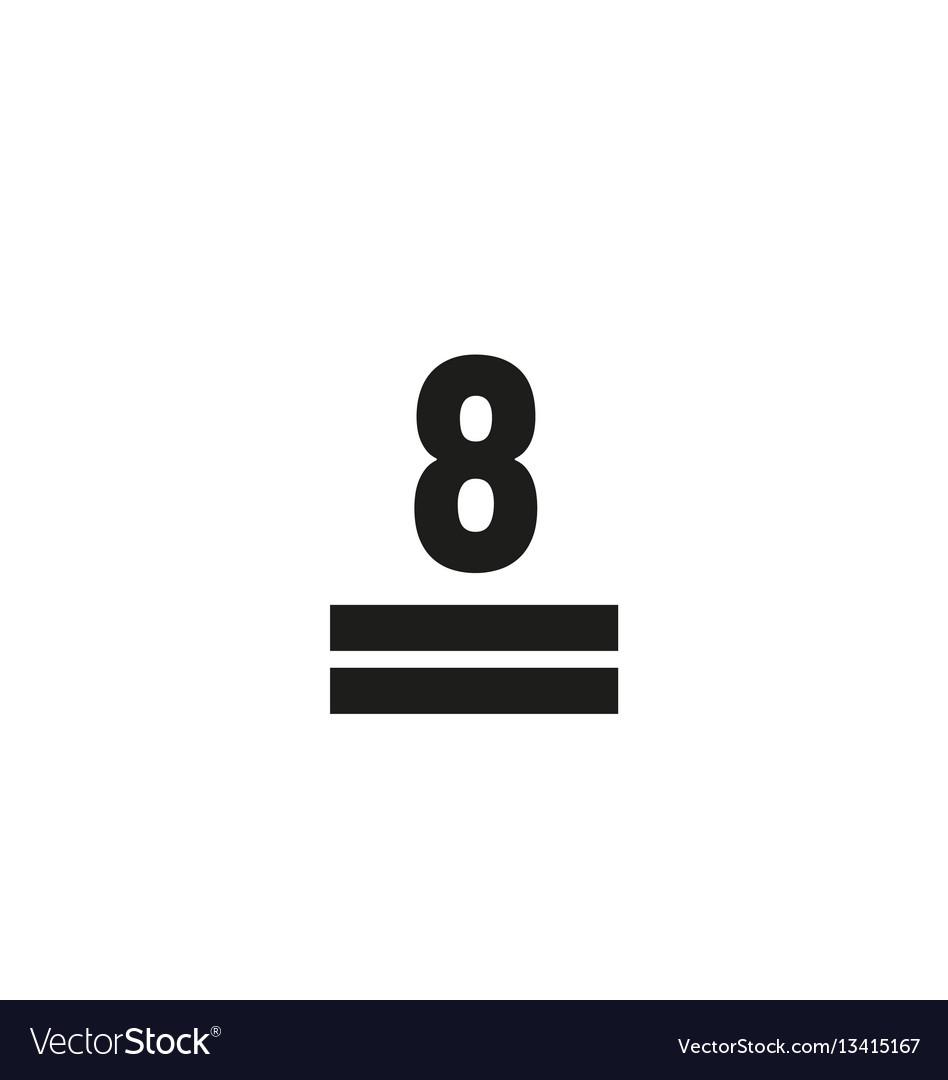 Maximum stack symbol on white background