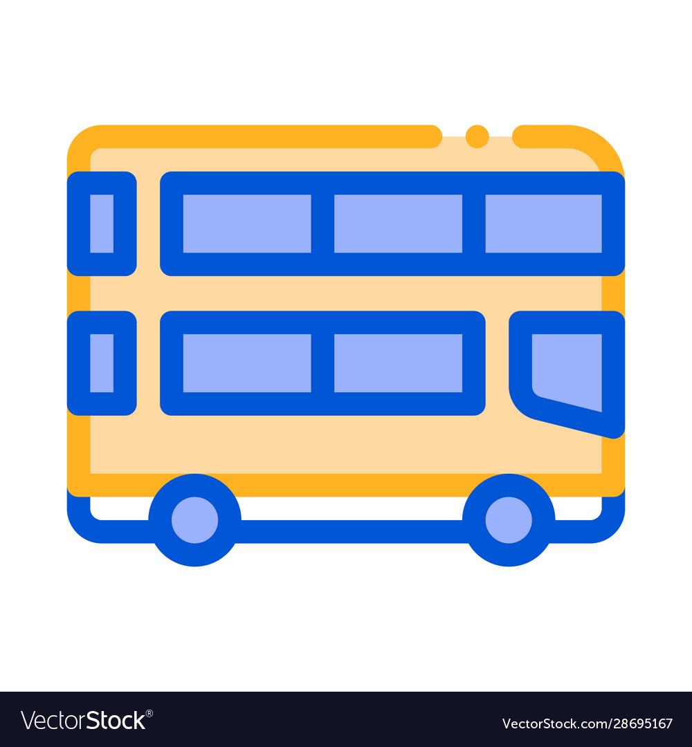 Public transport double-decker bus icon