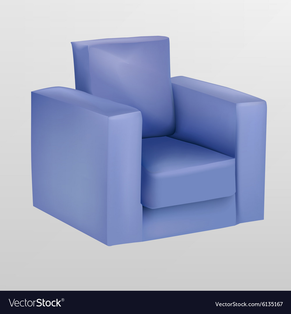 Purple Armchair Vector Image