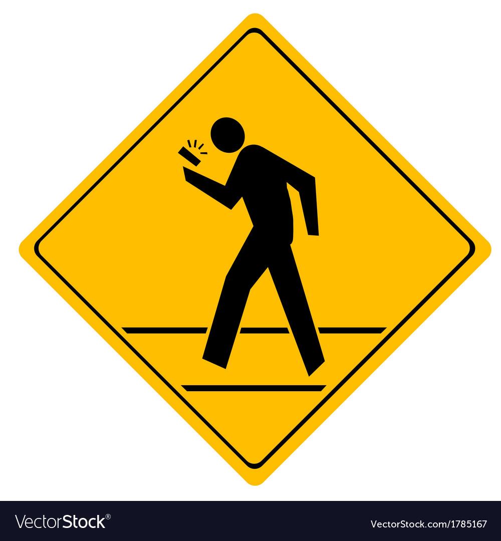 Road sign crosswalk