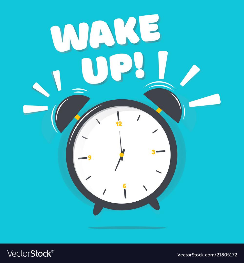 Alarm clock with wake up