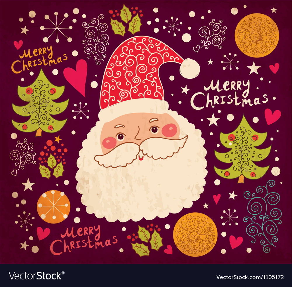 Christmas with funny santa claus