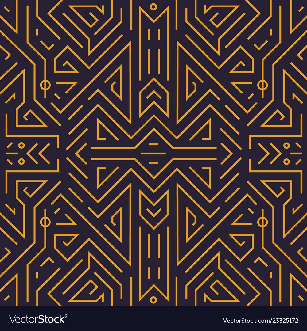 Geometric seamless pattern monogram