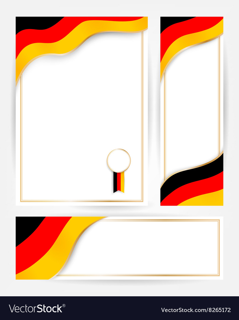 Germany flag banners set