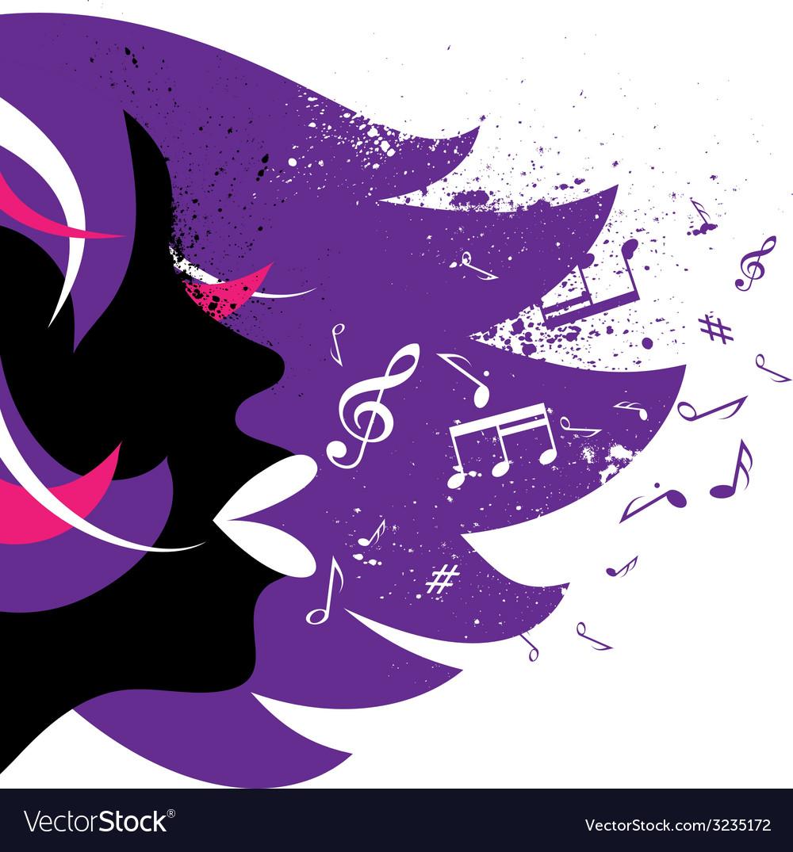 Girl background vector image
