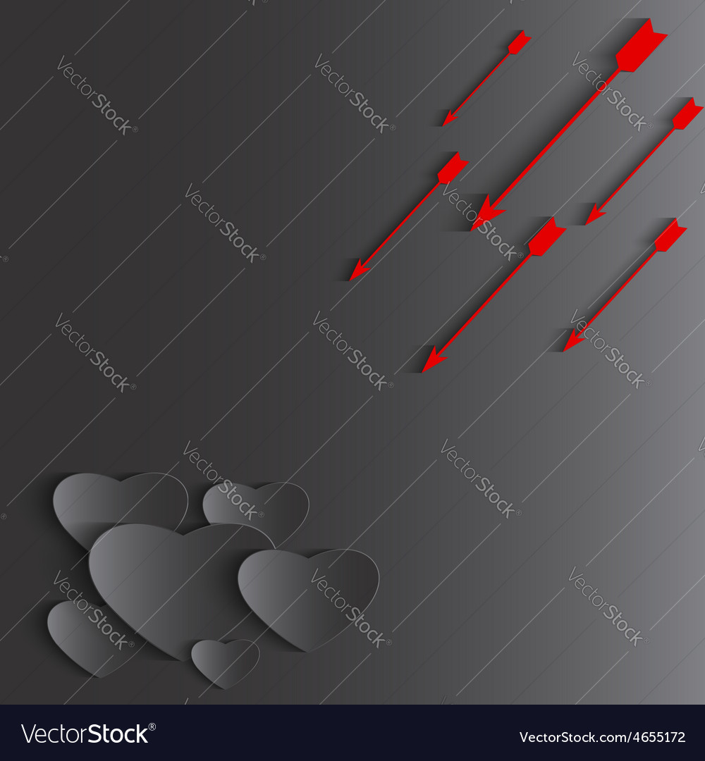Heart and arrow Valentines day holiday background