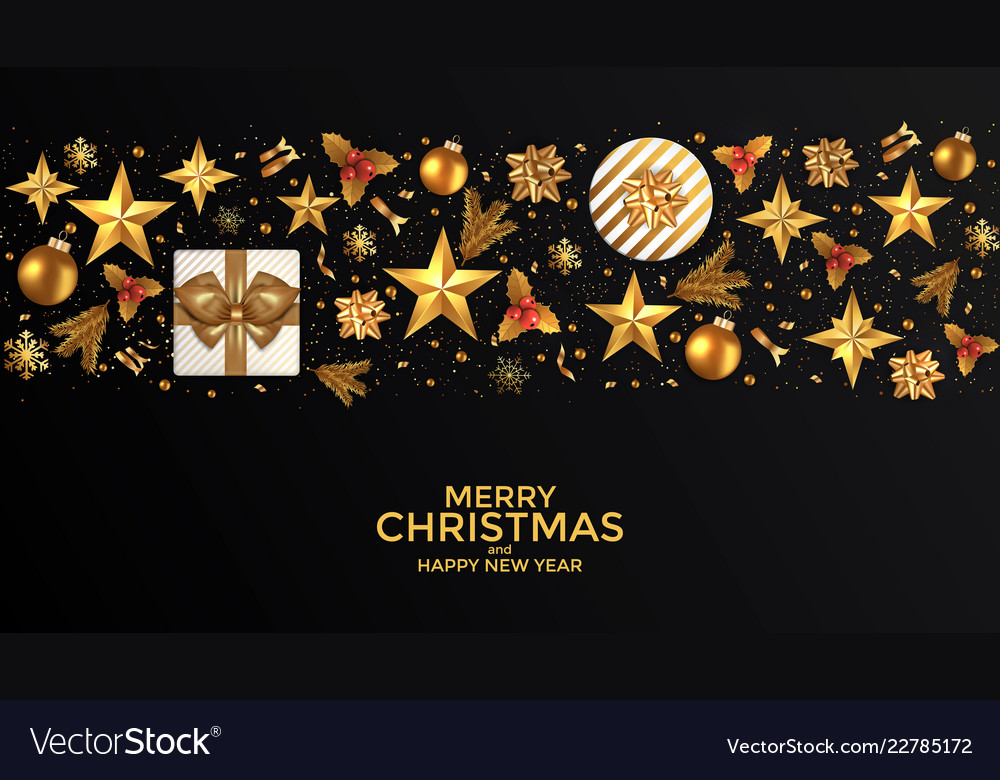 Holiday new year card - 2019 on black background 2