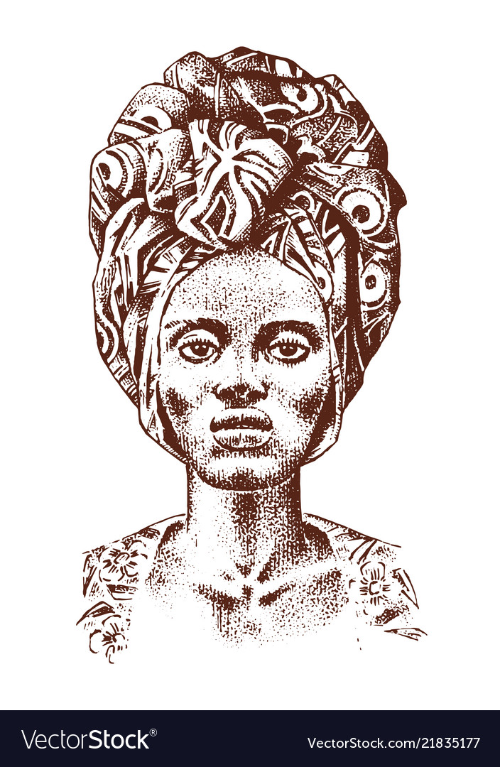 African woman portraits of aborigines