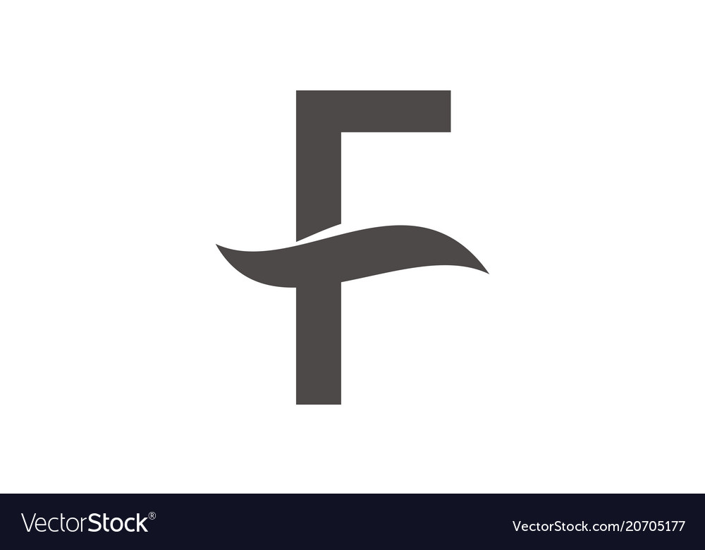 Letter f logo design template royalty free vector image letter f logo design template vector image maxwellsz