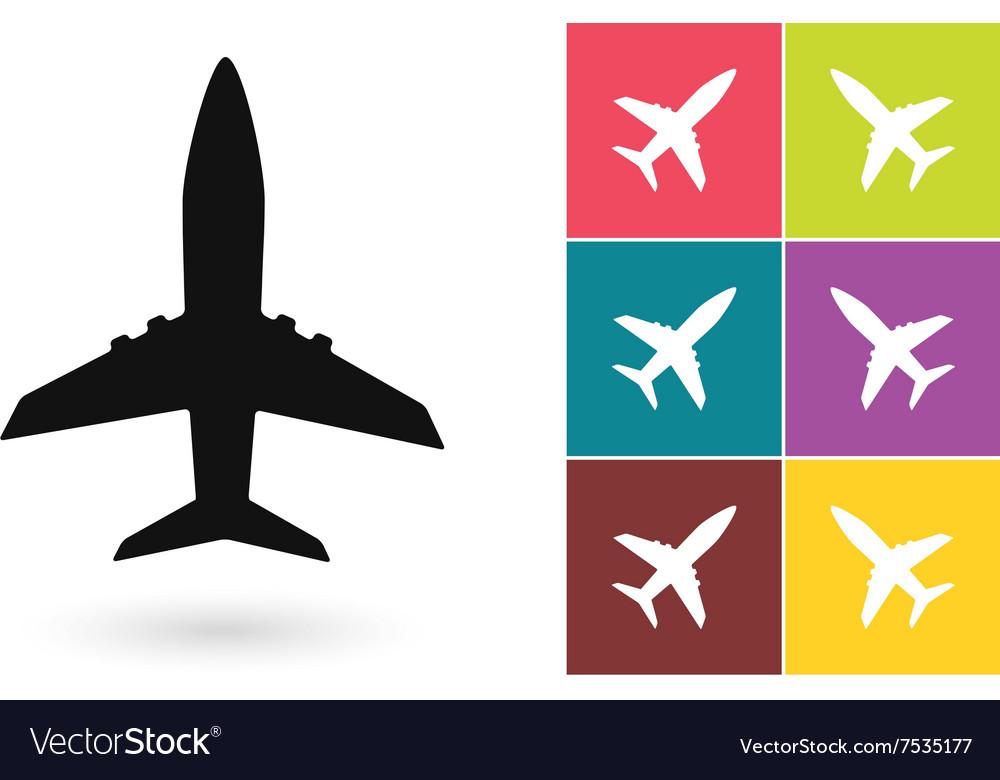 Plane icon or airplane symbol