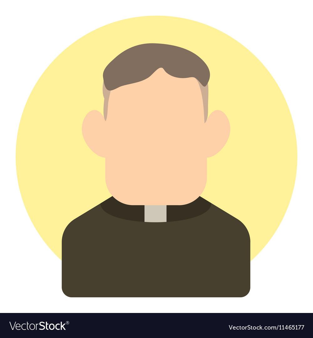 Priest icon flat style