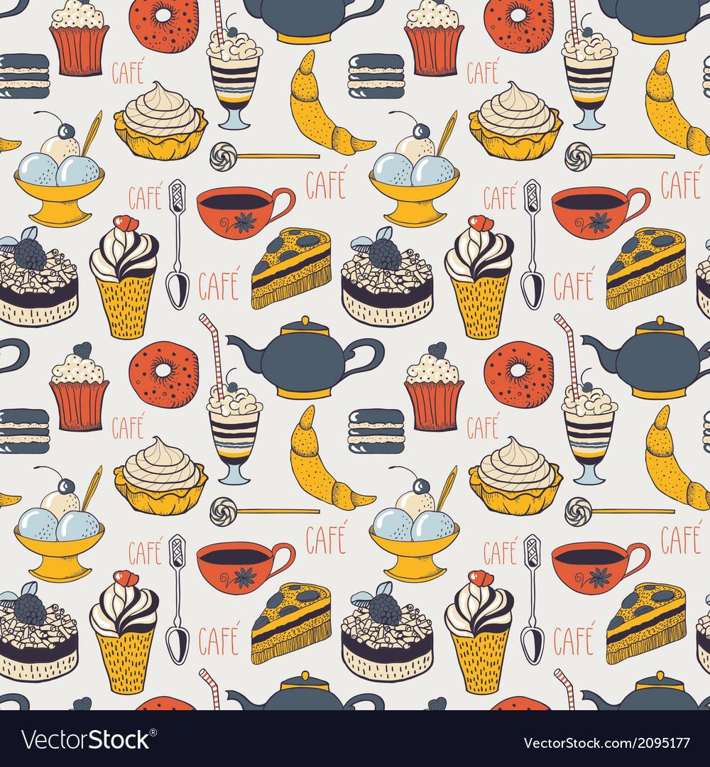 Seamless cafe pattern