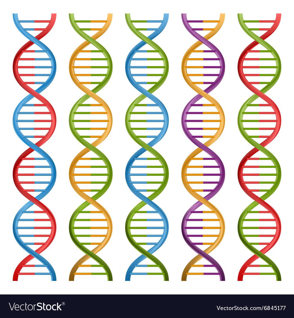 Set Of Dna Symbols For Science And Medicine Design