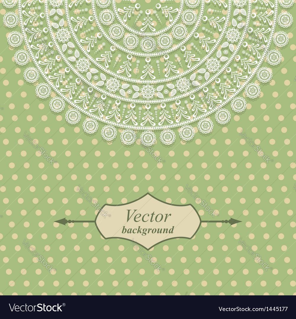 Vintage card design with floral pattern