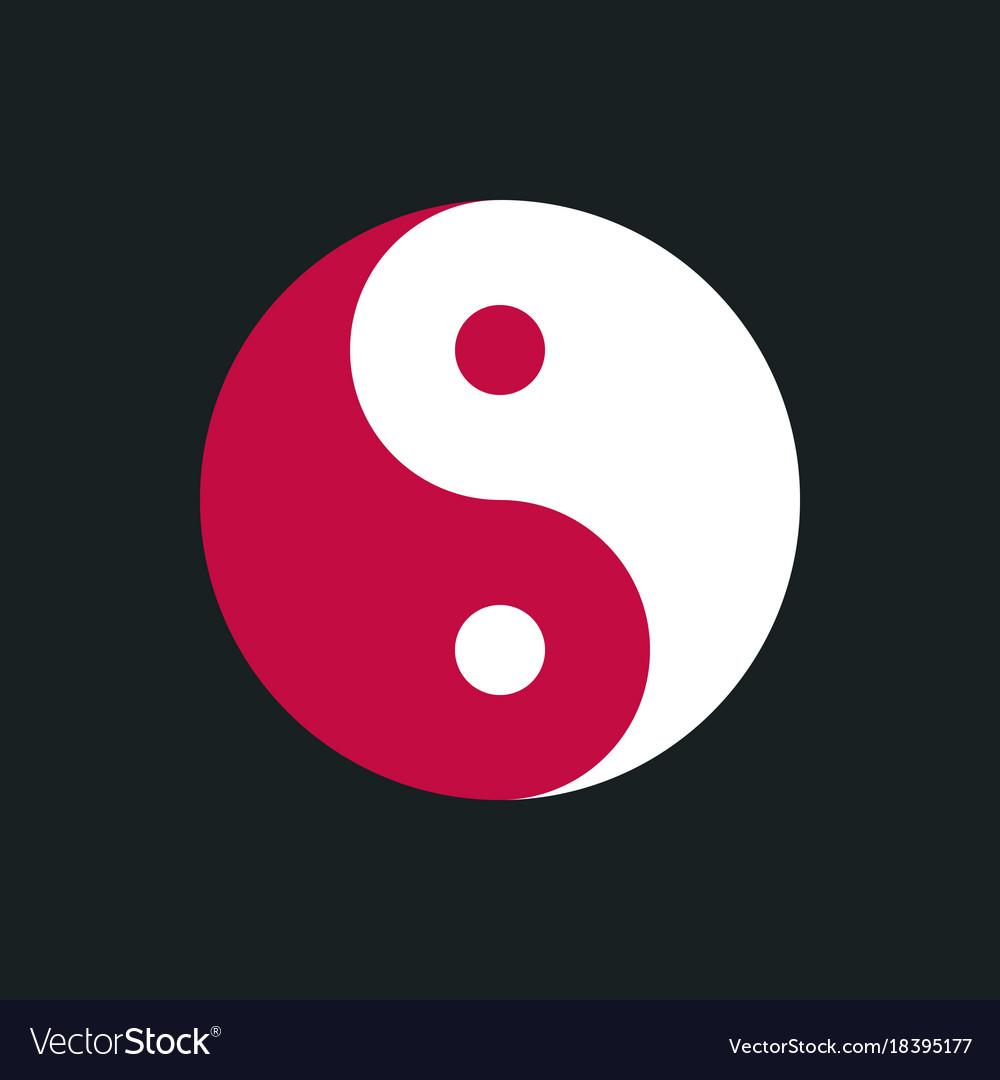 Yin Yang Simbol Royalty Free Vector Image Vectorstock