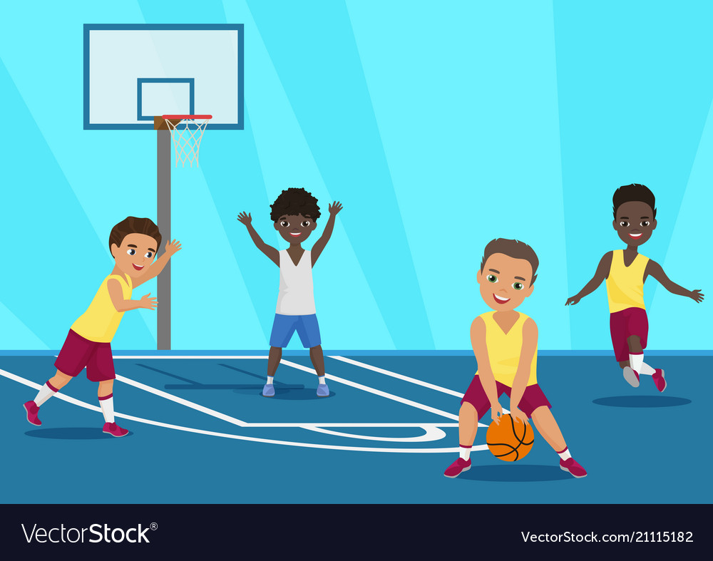 Cartoon of kids playing
