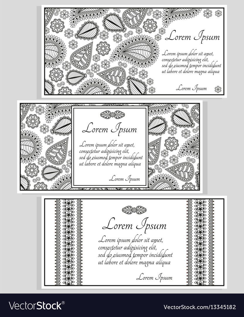 Invitation cards or templates vector image