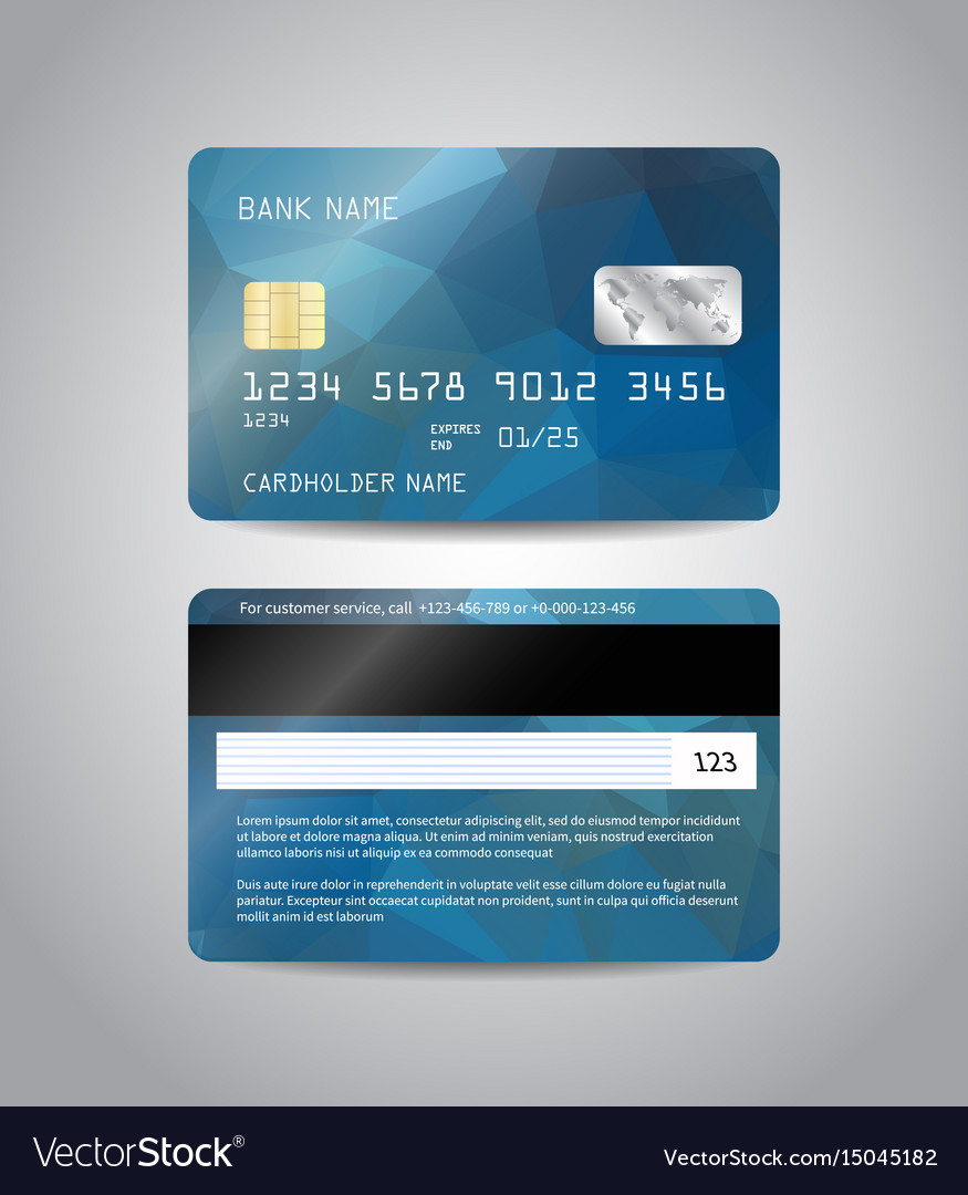 Realistic detailed credit card Royalty Free Vector Image