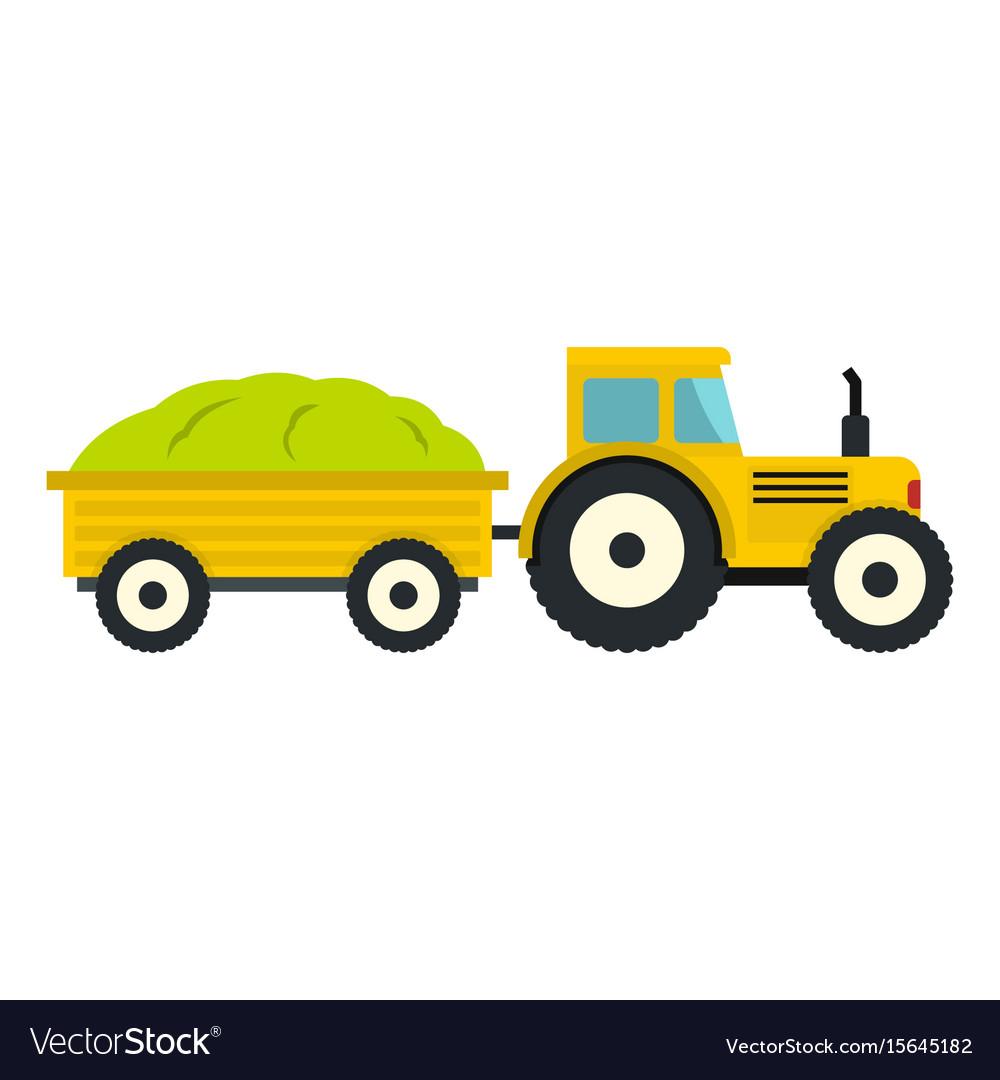 Tractor in cartoon style isolatedd on white