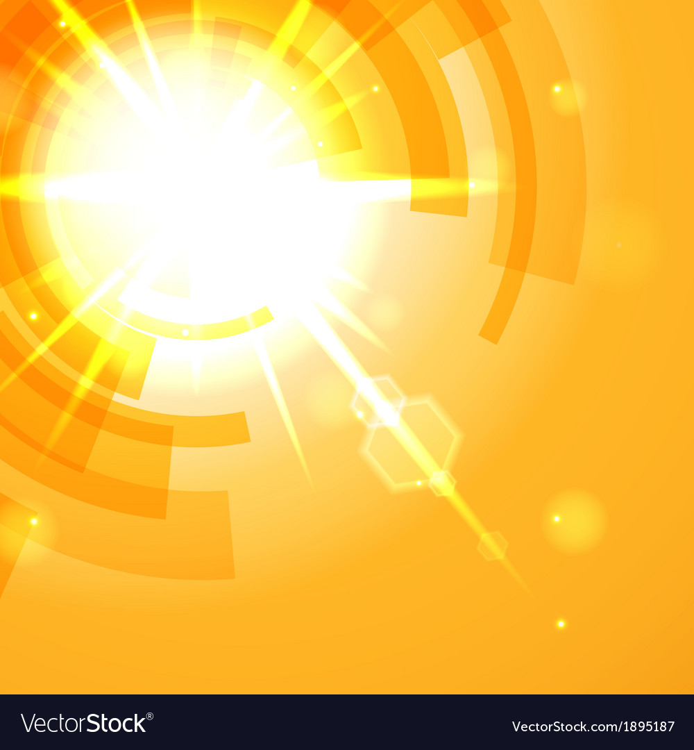 Bright Yellow Abstract Background Royalty Free Vector Image