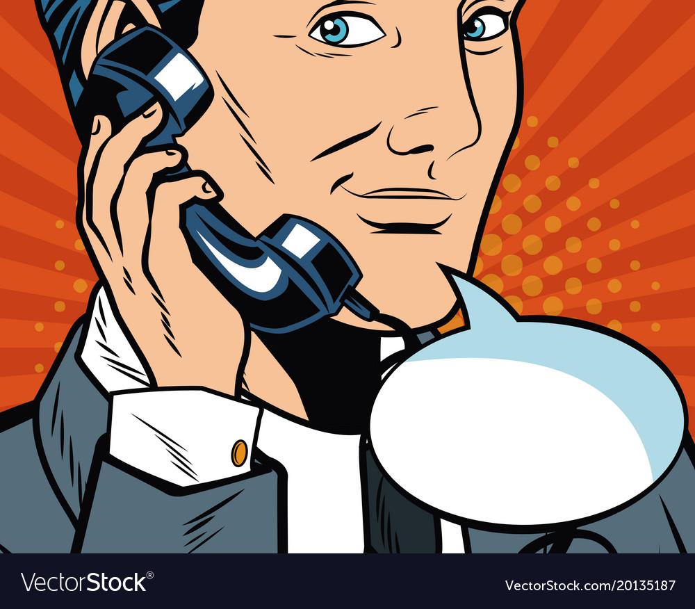 Businessman pop art cartoon