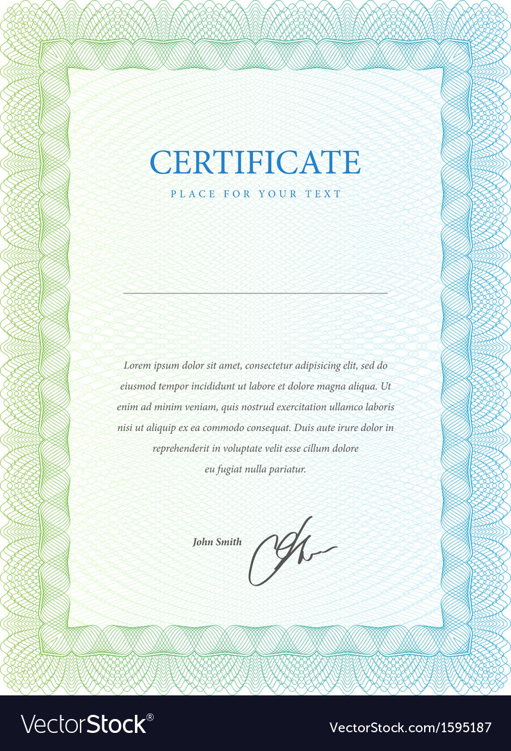 Certificate pattern that is used in currency and