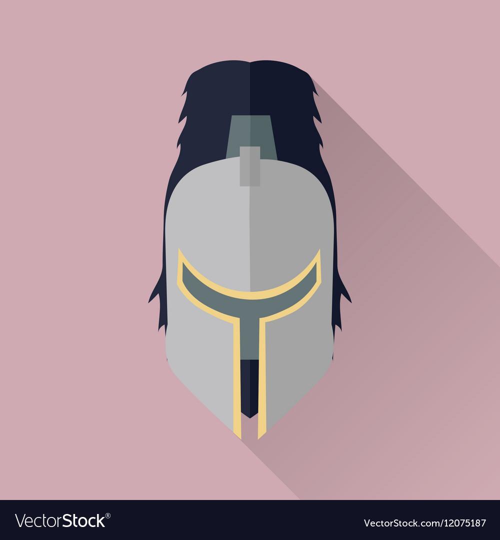 Helmet Headpiece Isolated Medieval Armour vector image