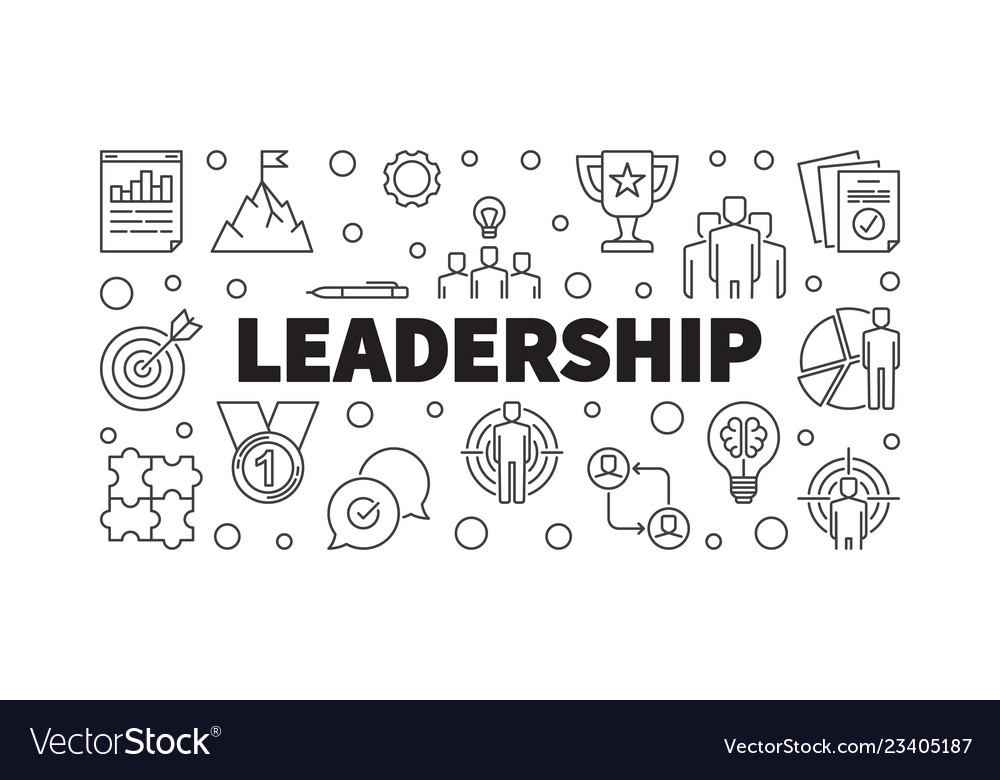 Leadership Creative Horizontal Outline Royalty Free Vector