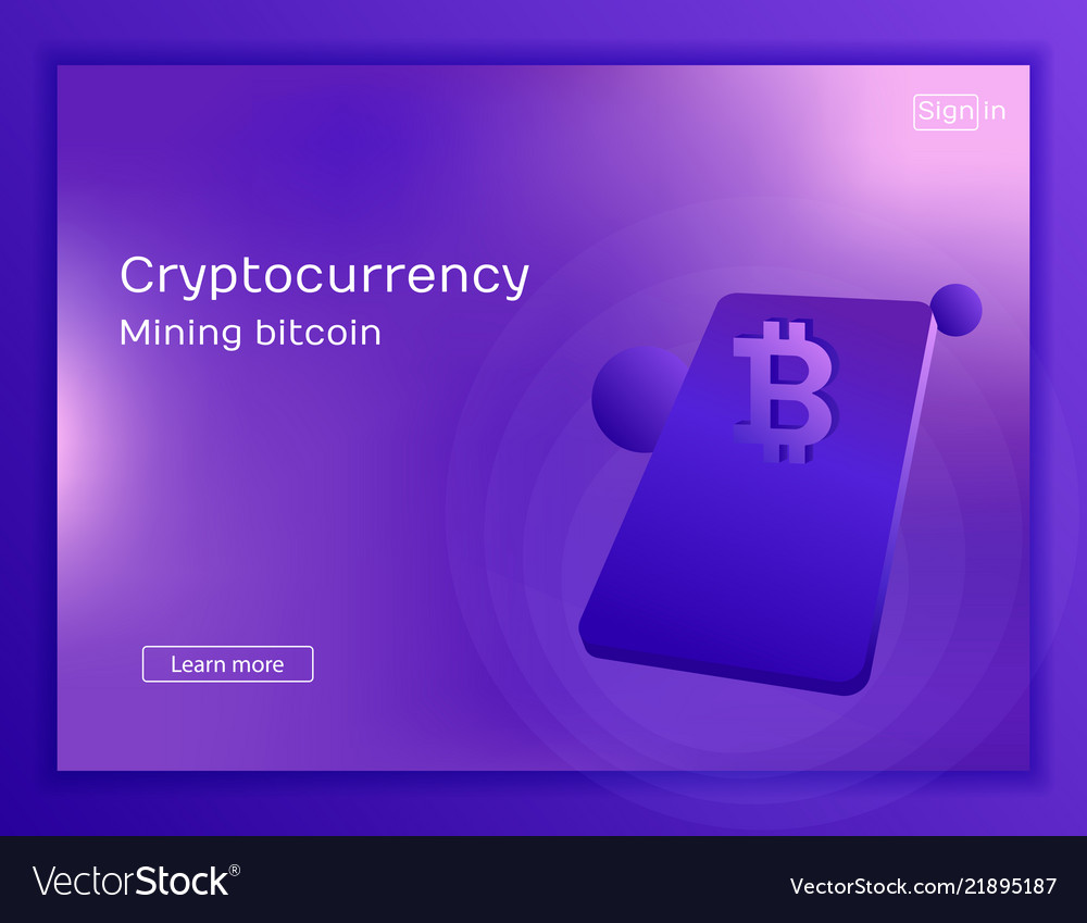 Mobile app for mining cryptocurrency bitcoin
