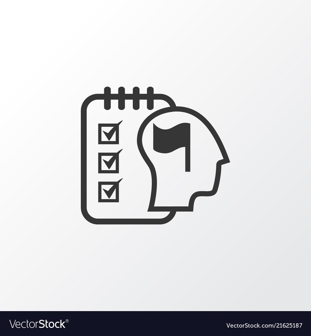 Self-organization icon symbol premium quality
