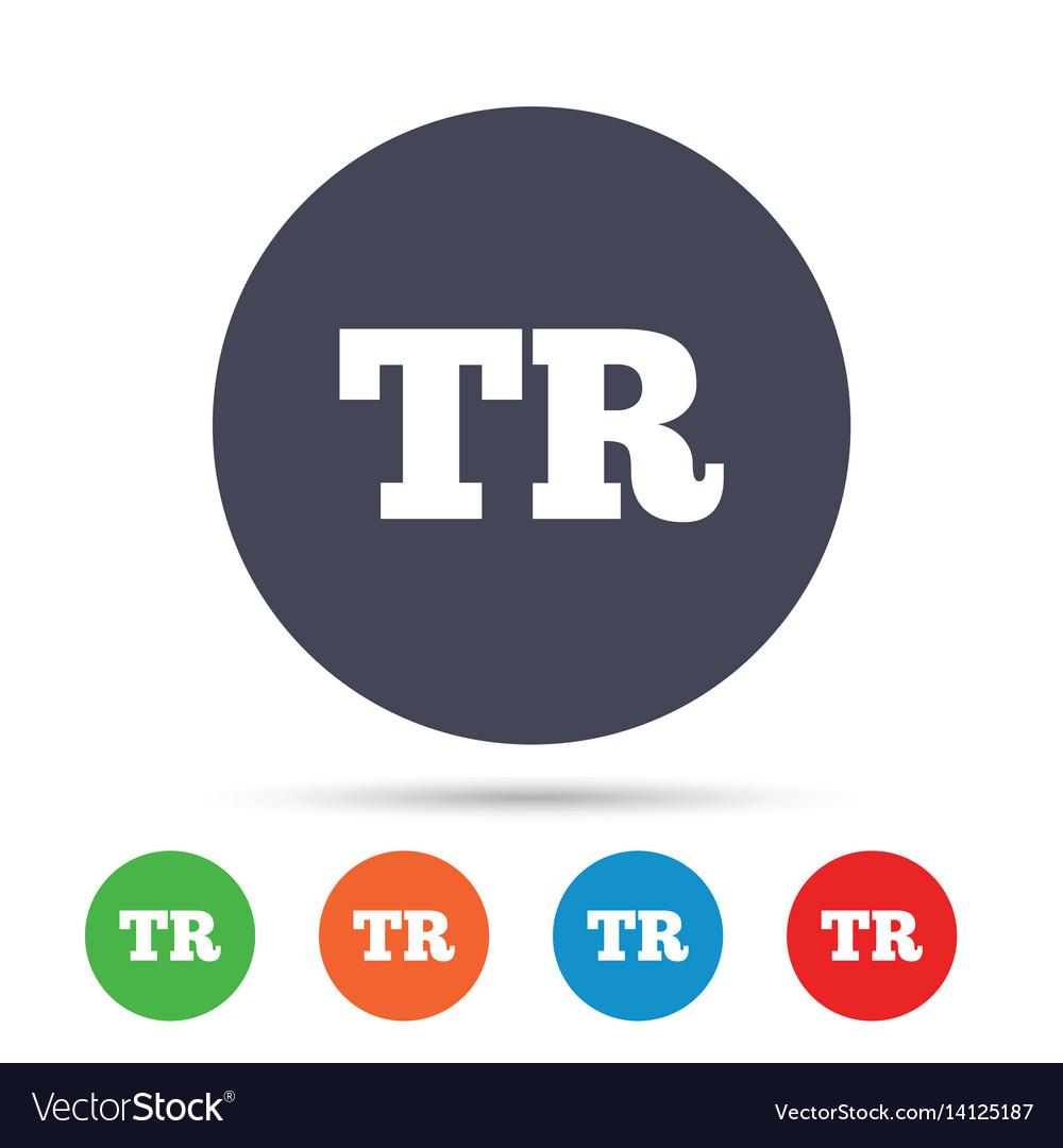 Turkish language sign icon tr translation