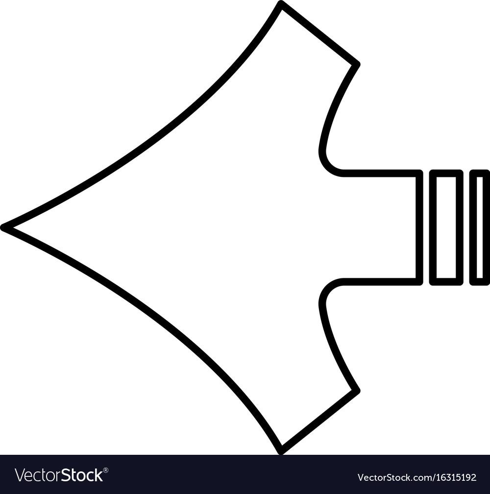 Arrow shape vector image