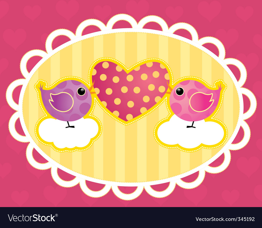 Birdie with a heart vector image