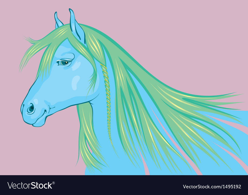Blue-Green Horse the symbol of 2014 New Year